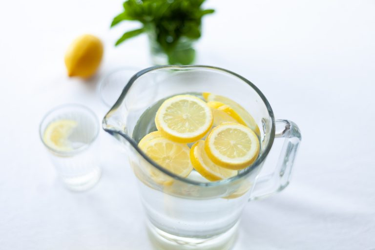 Pitcher of Lemon Water