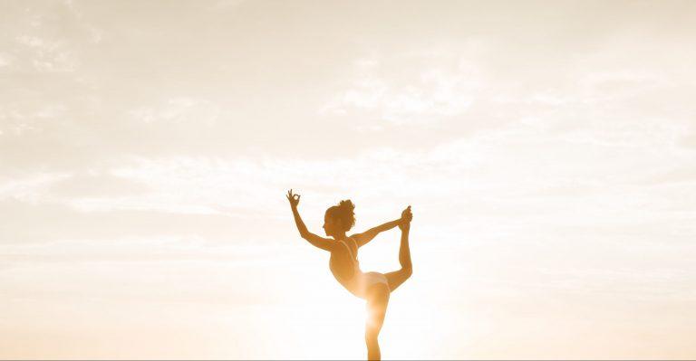 Young woman doing a yoga pose